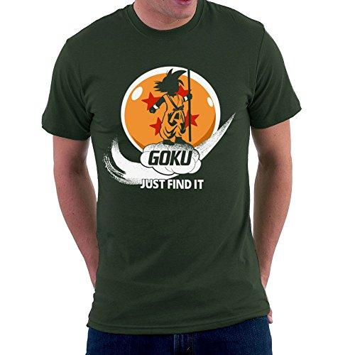 Just Find It Goku Dragonball Z Men's T-Shirt