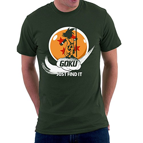 Just Find It Goku Dragonball Z Men's T-Shirt