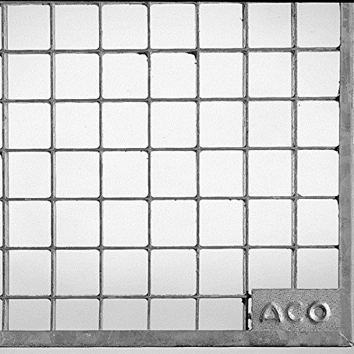 ACO 125 cm breites Lichtschachtrost begehbares Maschenrost MW 30/30 mm aus verzinktem Stahl