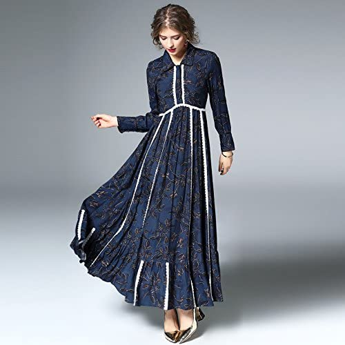 YFF Le tempérament Shirt Dress,Une,XL