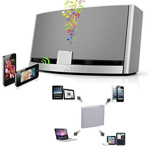 Divistar Gse Bluetooth A2DP Musik Audio Receiver Adapter für Bose Sounddock und 30-Pin iPod/iPhone Dock Lautsprecher