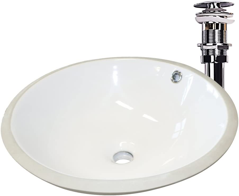 Raleigh Mall Sliverylake 17 Inch Porcelain Undercounter Lowest price challenge Lavatory Sink Bathroo