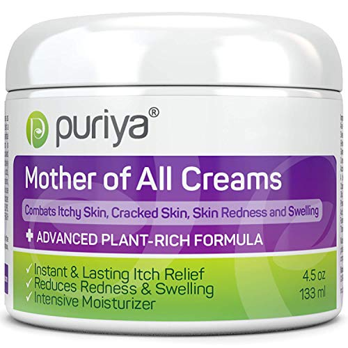 Plant Based Ultra Gentle Cream for Dry, Itchy and Sensitive Skin, Doctor Approved, No Hydrocortisone, Safe for Long Term Use on Face and Body, No Artificial Fragrance, Mother of All Creams by Puriya