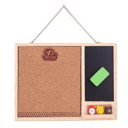Dwufunkcyjny prostokąt magnetyczna tablica tablicowa mała wisząca wiadomość zestaw czarnych tablic solidna ramka tablica tablica korkowa drewniana wiadomość tablica ogłoszeniowa do domu biura klasy szkoły