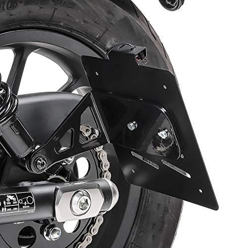Kennzeichenhalter seitlich M Kompatibel für Honda Rebel 500 17-21 schwarz
