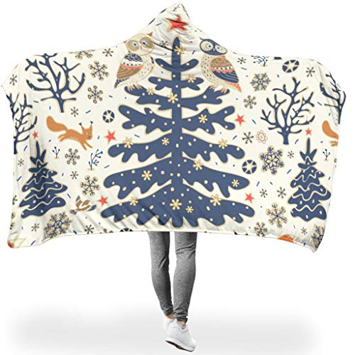 RQPPY Christmas Flower-Mirror Coperta Super SoftCozy Lightweight Durable all Season, Poliestere, Bianco, 150 x 200 cm
