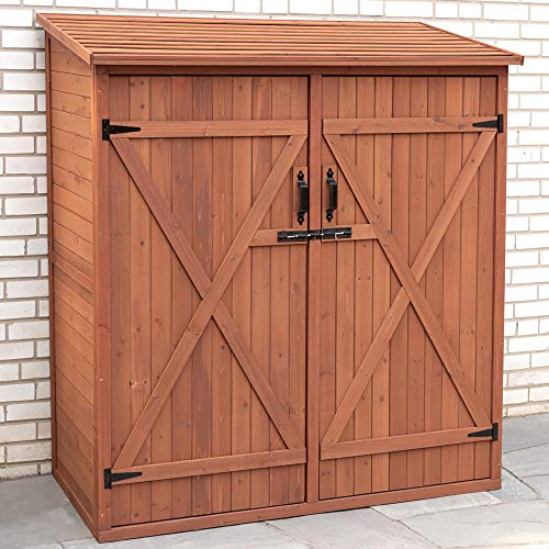 Hot Sale Leisure Season Medium Storage Shed, Solid Wood, Decay Resistant