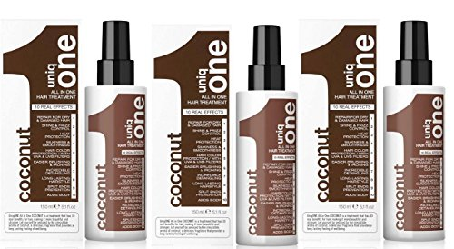 Lot de 3 All in One de Uniq One Traitement au Noix de Coco 150ml
