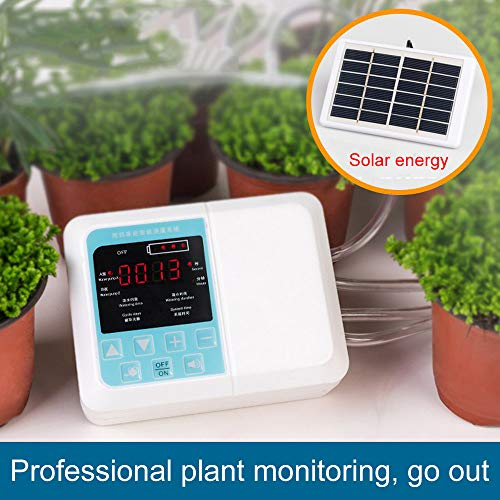 Boyang DIY Automatic Drip Irrigation Kit Intelligent Automatic Watering Device Solar Energy Charging Potted Plant Drip Irrigation Water Pump Timer System