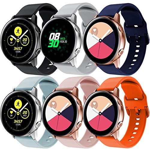 TMCCB Correa para Samsung Galaxy Watch Active/Active2 40mm 44mm,20mm Correa Banda de Deportes Silicona…