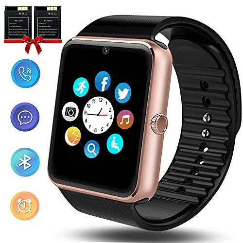 ANCwear Bluetooth Smart Watch, Smartwatch with SIM Card Slot Camera Music Play Sports Smart Watch Phone with Pedometer Sleep Monitor Compatible Android Phones for Women Men Kids