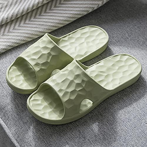MDCGL Comodas Transpirable Pantuflas Zapatillas de baño para Hombre y Mujer, Sandalias de Pareja para el hogar Antideslizantes para Interior, Exterior, baño, Piscina de jardín Verde EU34-35