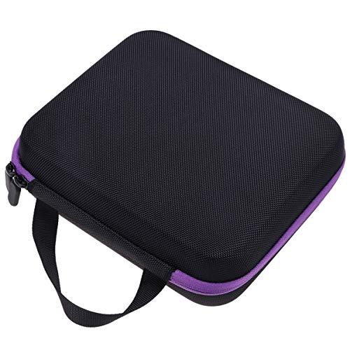 Hemoton Essential Oil Bottle Bag Shockproof EVA Case Makeup Small Bottle Holder for 30 Slots Bottle- Purple