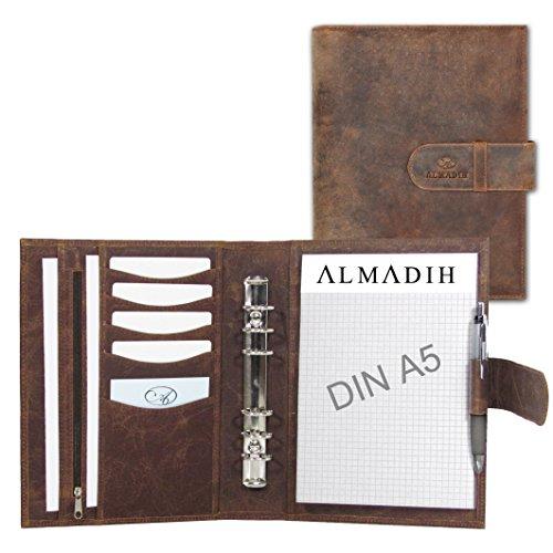 Almadih - Recambio para agenda (A5, A6, A7, 2021, con accesorios para carpetas de piel)