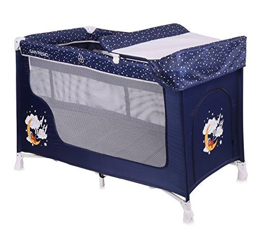 Lorelli 10080071804 Lit Parapluie à 2 Niveaux San Remo 2 Bleu