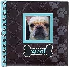 Malden International Designs Álbum de fotos Woof, 80-4x6, azul