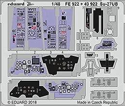 Eduard 1:48 Su-27 UB Interior Color PE Detail Set for Hobby Boss Kit #49922
