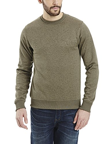 Bench Herren Literary Sweatpullover, Dark Green Marl, M