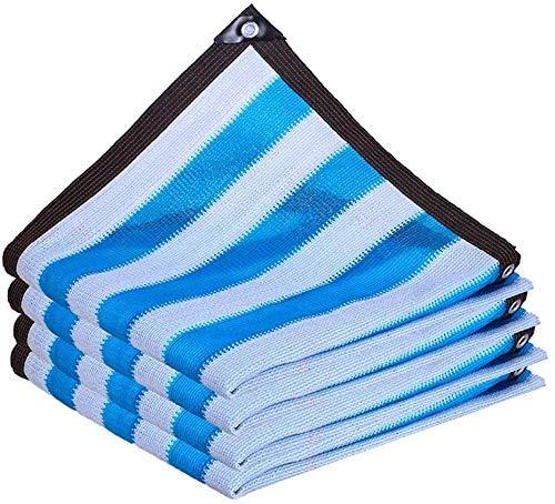 Gymqian Sombreado Netting Camo Netting Shade Paño Raya Al Aire Libre Sombra de Tela Cifrado Espesar Sombreado Red con Ojales para Balcón Patio Succulents Jardinería decoración/Azul / 4 * 4m