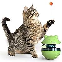 Xigeapg ペット犬猫タンブラー、漏れ食品おもちゃ、おかしい猫ポール、フィーダーおもちゃ、犬猫フィーダーおもちゃ、トレーニングおもちゃペット、グリーン
