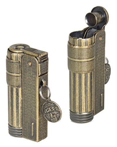 Lifestyle-Ambiente Limited Edition IMCO Feuerzeug Super-Triplex Oil antik-Gold Schriftzug