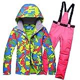 Ropa de esquí Nueva Mujer de la Nieve Chaquetas de Las señoras de esquí Conjuntos de Trajes de Vestir for Mujeres Snowboard Deportes al Aire Libre Trajes de pantalón de esquí Trajes de esquí