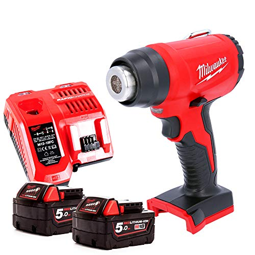 Milwaukee M18BHG 18v Cordless Compact Heat Gun with 2 x 5.0Ah Batteries & Charger