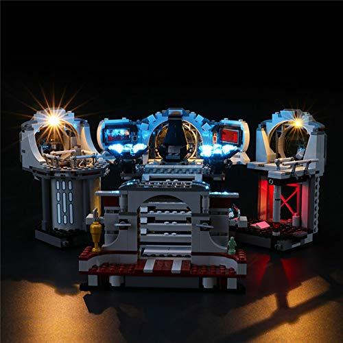 Kit de iluminación USB Compatible con Lego 75291, Juego de Luces LED para Star Wars Death Star Final Duel Bloques de construcción Modelo DIY Accesorios de Montaje para niños (no Incluido el Modelo)