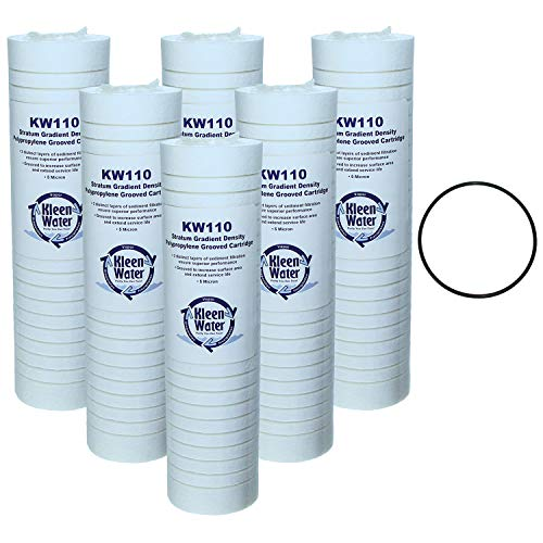 KleenWater KW110 Water Filter Compatible With Whirlpool WHKF-GD05 and Aqua-Pure AP110, Set of 6