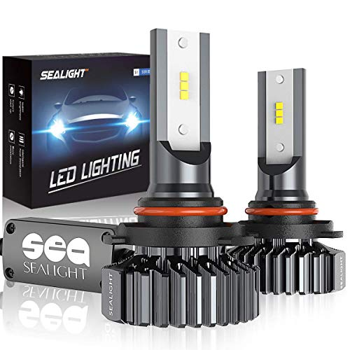 SEALIGHT 9005/HB3 LED High Beam Headlight Bulbs Conversion Kit Plug and Play, 9145/H10 Fog Light Bulbs 6500lm 6000K White