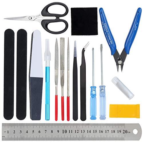 WiMas 17PCS Gundam Modeler Grundwerkzeuge, Modellbau Werkzeuge, Modellierer Basic Tools für Grundmodellbau Reparatur und Festsetzung