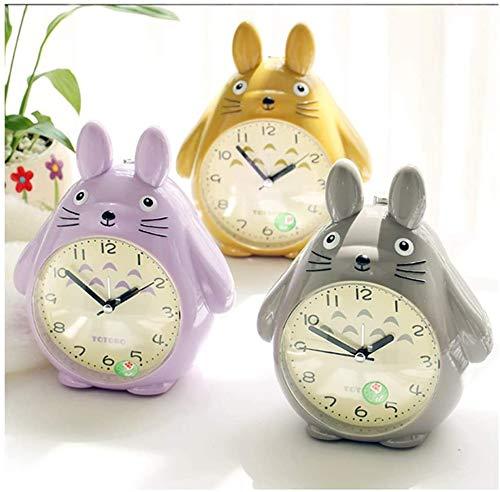 Totorobiu Cartoon Wecker for Kinder Schlafzimmer, Nachtlicht Uhr for Kinder (Color : Purple)