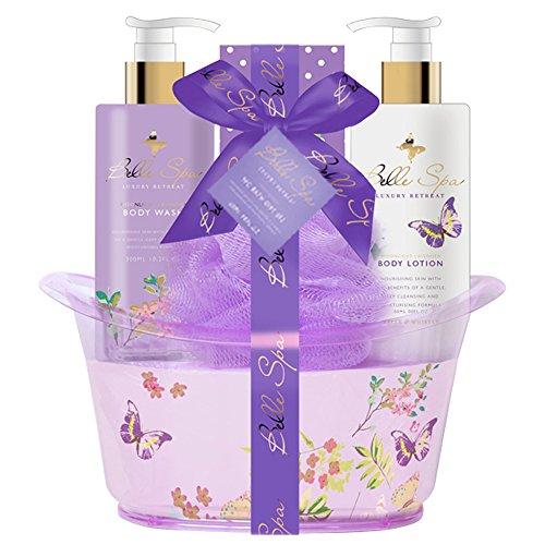 Gloss! Retro Baignoire de Bain Violet, Coffret Cadeau-Coffret de bain