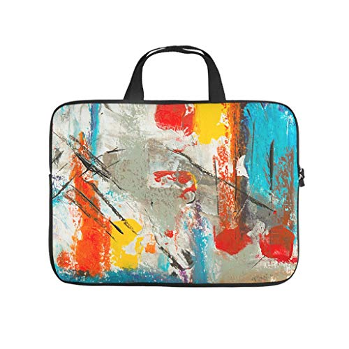Oil Graffiti on Canvas Texture Laptop Bag Scratch Resistant Protective Case for Laptops Notebook Bag for University Work Business