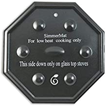 Cooks Innovations 5200 SimmerMat Heat Diffuser, Simmer Ring, and Flame Tamer for All Stove Types 1-Pack Black