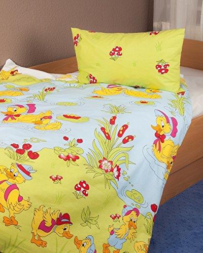 Kinderbettwäsche Renforcé Ententeich in 2 Größen/Bettwäsche Kinder/Baumwollbettwäsche