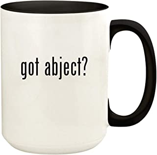 got abject? - 15oz Ceramic Colored Handle and Inside Coffee Mug Cup, Black