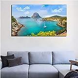 QINGRENJIE Ibiza Island Landschaft Wandkunst Leinwand