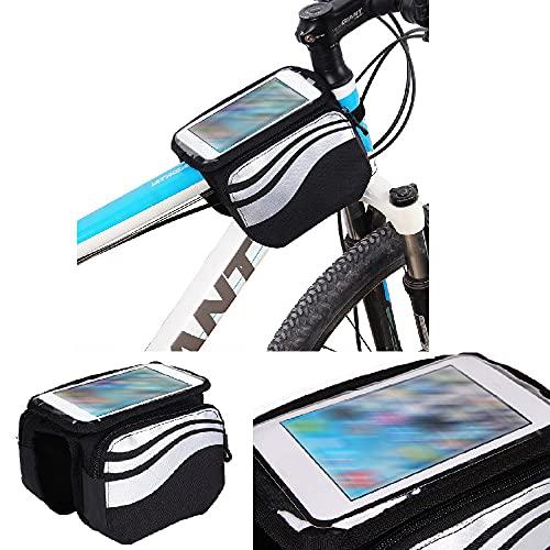 K-S-Trade Rahmentasche Kompatibel Mit Planet Computers Cosmo Communicator Rahmenhalterung Fahrradhalterung Fahrrad Handyhalterung Fahrradtasche Handy Smartphone Halterung Bike Mount Wasserabweisend,