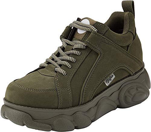Buffalo Damen Corin Sneaker, Grün (Khaki 001), 40 EU