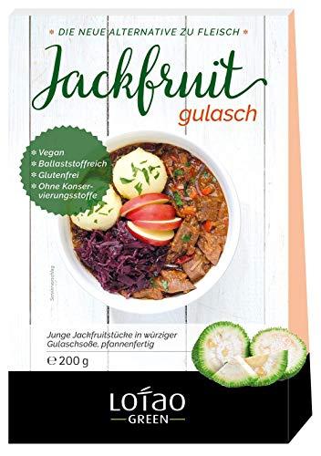 Lotao Set Jackfruit (Fleischersatz) als GULASCH Gericht | Bio Fleischalternative | Fertiggericht schnell und gesund | 1 x 200g
