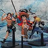 3 Piezas Anime One Peice Three Brothers On The Run Luffy Ace Sabot PVC Figuras De Acción Juguetes Coleccionables Modelo Juguetes 21Cm