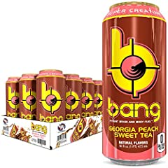 Includes 12 (16oz) cans of Bang Energy Drink, Georgia Sweet Tea flavor Bang sweet teas are the perfect non-carbonated energy drink for those who like tea and all the other goodness of Bang. Studies suggest that the caffeine in Bang sweet teas increas...