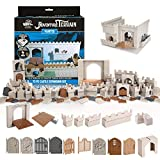 Monster Adventure Terrain - 72pc Castle Expansion Set - Fully Modular and Stackable 3-D Tabletop World Builder Compatible with DND Dungeons Dragons, Pathfinder, and All RPG Games