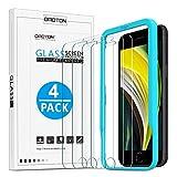 OMOTON [4 Stück] Panzerglas für iPhone Se 2020 [4.7 Zoll]. Schutzfolie für iPhone SE 2 Generation/8/7/6/6s [9H Festigkeit], Mit Positionierhilfe [Anti-Kratzen], [Anti-Öl], [Anti-Bläschen].