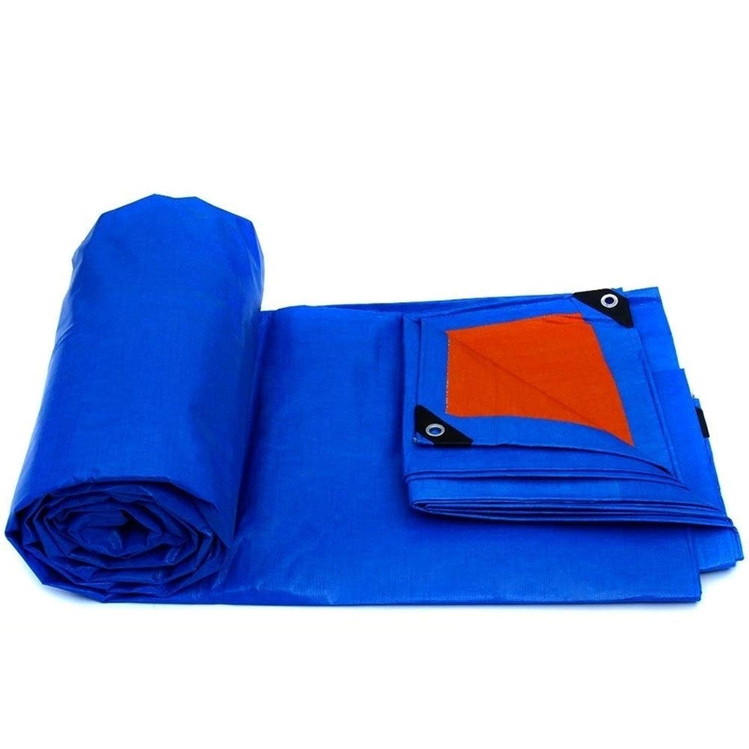 線形アジテーション調停するLCAIHUA 防水シート耐摩耗性高温ヒートシールボタンホールアウトドア、ポリエチレン、18サイズ (Color : Blue, Size : 12×8m)