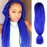 FASHION LADY 100% jumbo braid hair extension 1Pcs/Lot Blue Braiding Hair Extensions African Hair Braiding Synthetic Yaki Straight Crochet Braids Hairstyles(48Inch 57g/PC, Blue)