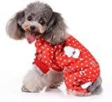 RYPET Dog Christmas Pajamas - Small Dog Christmas Clothes Santa Claus Pattern Dog Onesies for Pet...