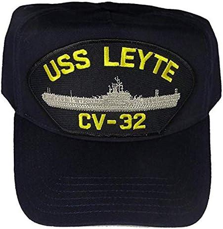 Embroidered Veteran Hat USS Leyte CV-32 新作入荷!! USN 高級な Ship Essex HAT Navy