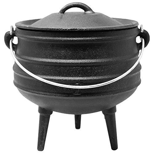 ToCis Big BBQ Potjie #1 | Südafrikanischer Gusseisen Koch-Topf | Alternative zum Dutch-Oven | Größe: ca. 3 Liter